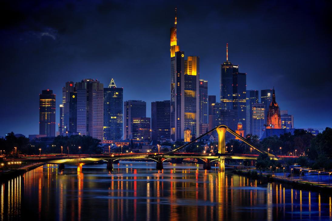 frankfurt skyline by cndrs on deviantart. Black Bedroom Furniture Sets. Home Design Ideas