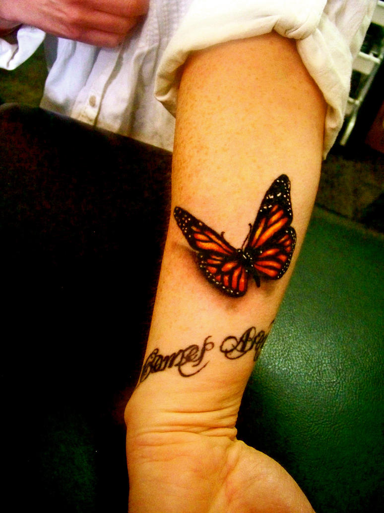 Monarch Butterfly Tattoo On Wrist