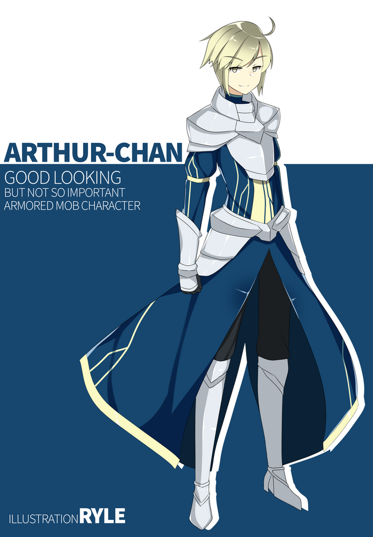 Ryle-chan version: Arthur Pendragon by Ryle-chan