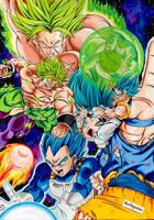 New Broly vs Gogeta Ssj Blue - Dragon Ball Super by Artegavino