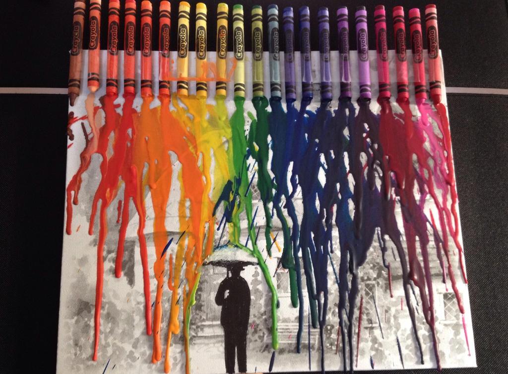 Raining crayons by kazooSam