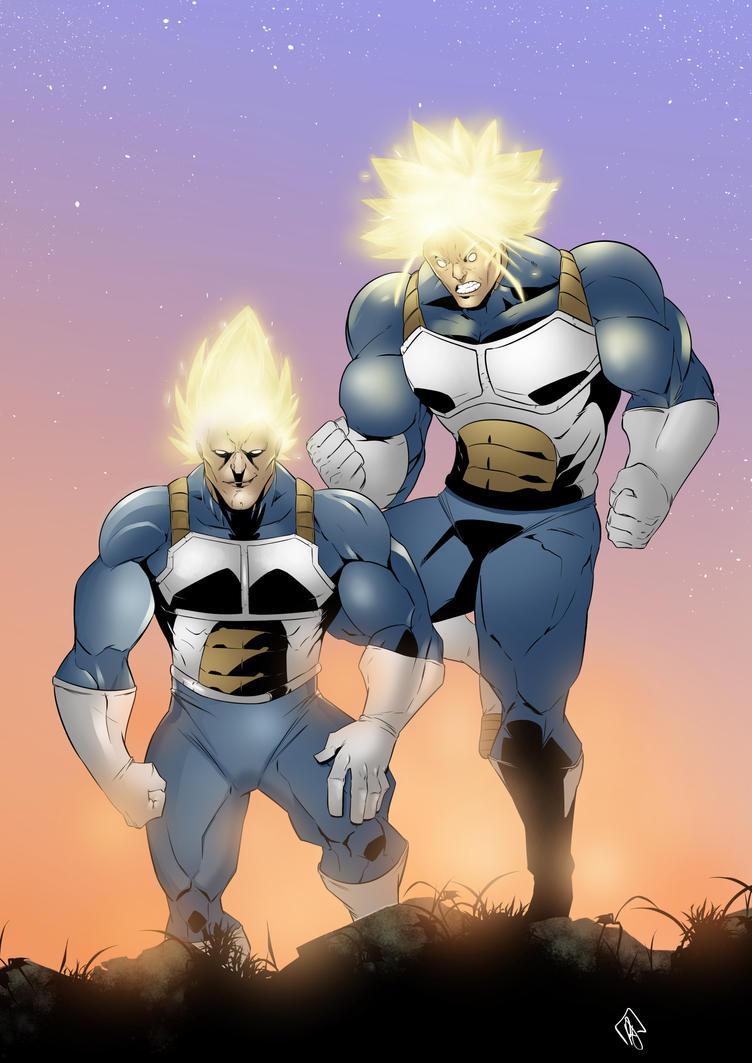 Super Vegeta and Super Trunks by FukuroBen