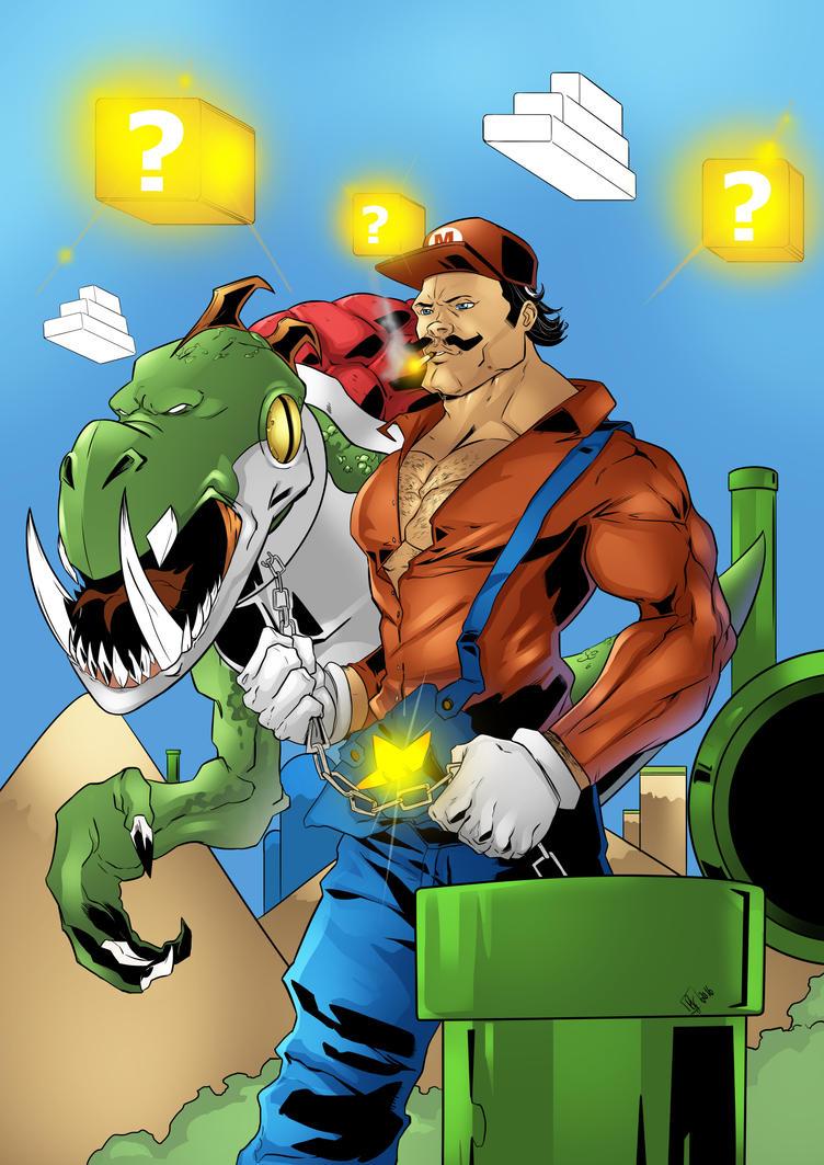 Mario And Yoshi by FukuroBen