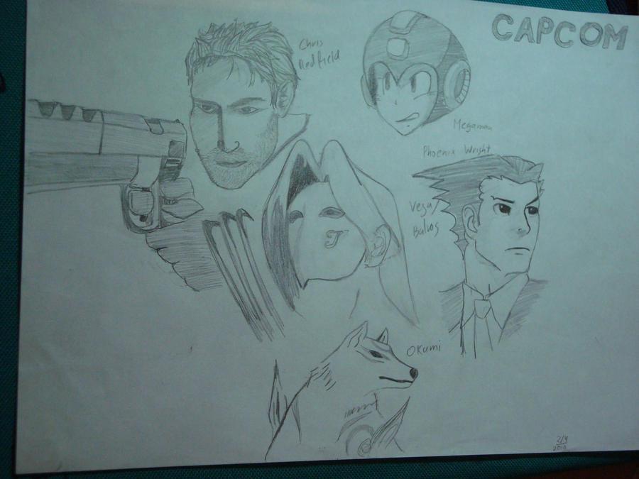 CAPCOM Characters by LukeApoApo