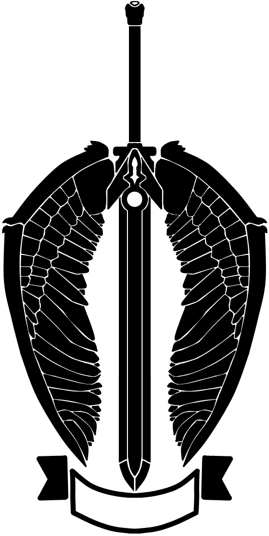 nameless winged sword logo artsy alt by rennistora on
