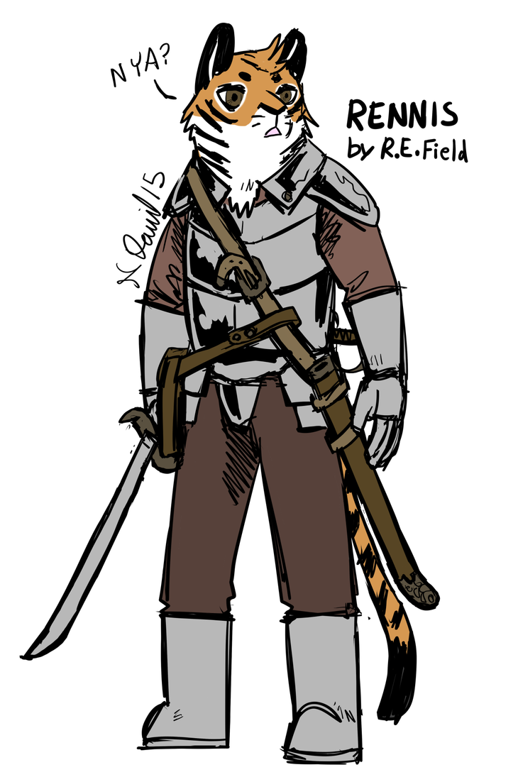 Rennis as a Latchekay Kingdom Character, Colours by RennisTora