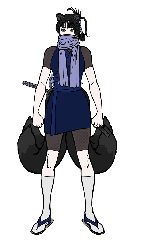 KitsuneGirl Portrait Alt Cropped by RennisTora