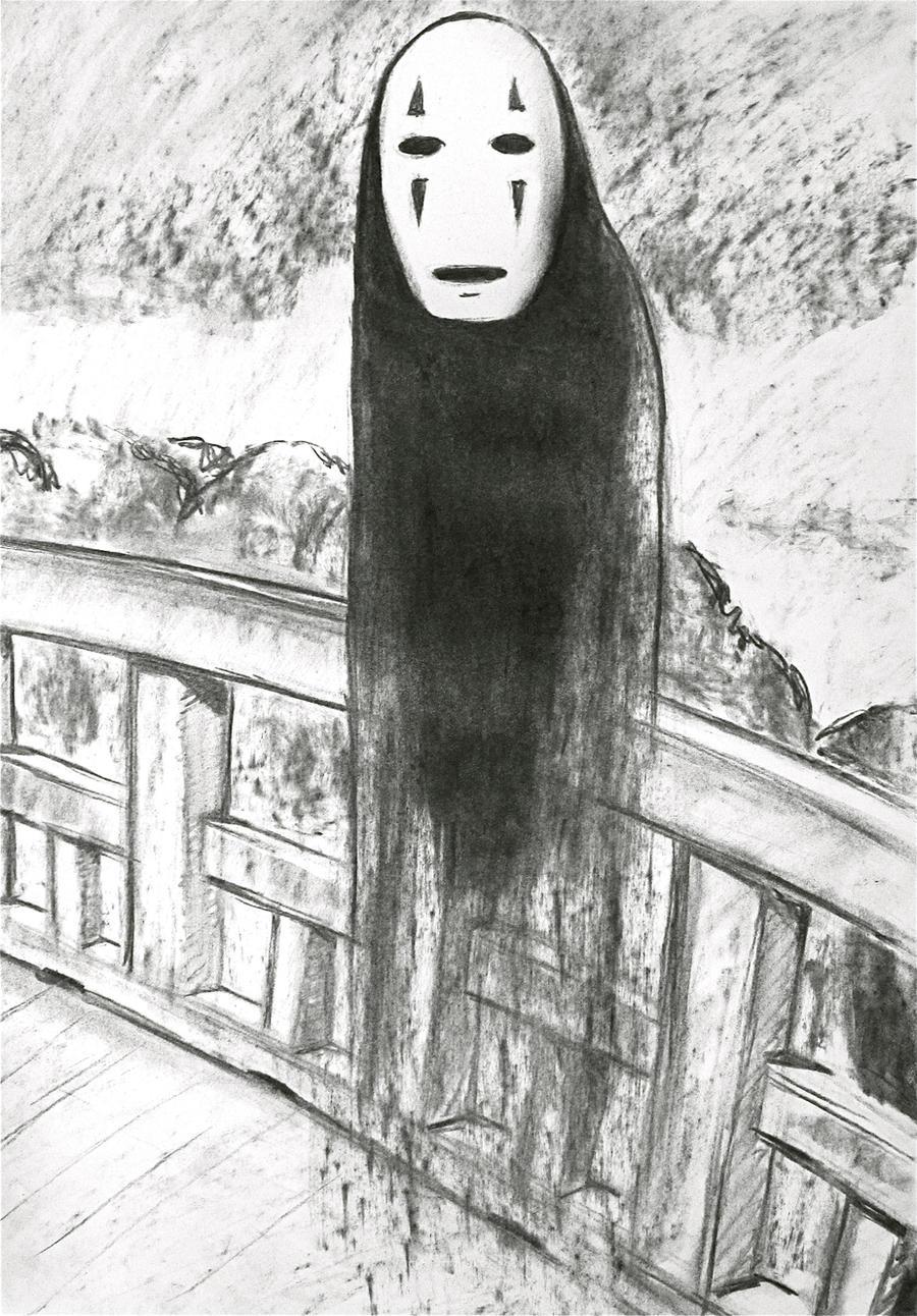 kaonashi from spirited away by mandyart1