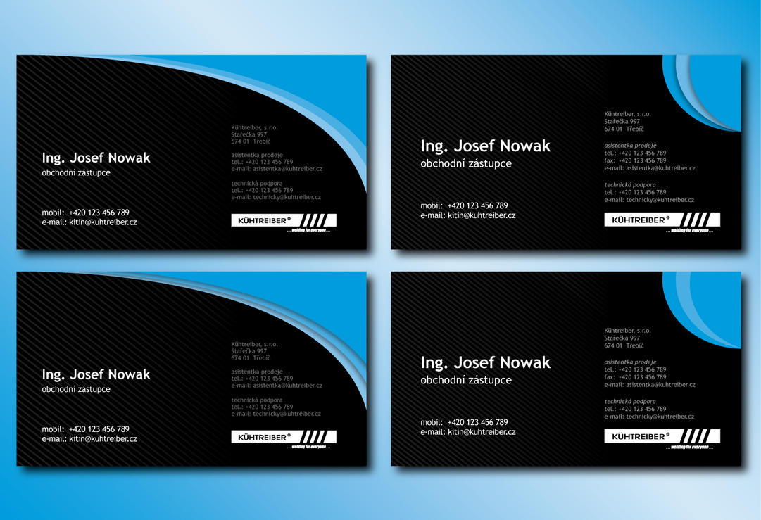 Black and Blue Business Card by ~Slaterius