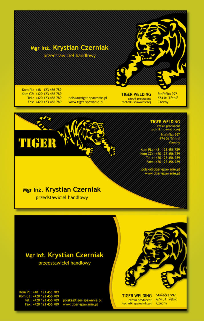 Tiger Business Card by Slaterius on DeviantArt
