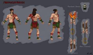 Firedancer Draven Reference Sheet by Dargonite
