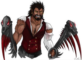 Wolfman Draven Concept Art by Dargonite