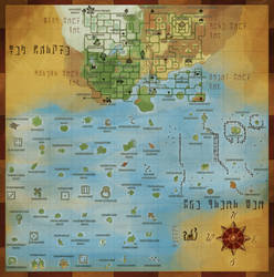The Great Sea and New Hyrule Map by Dargonite