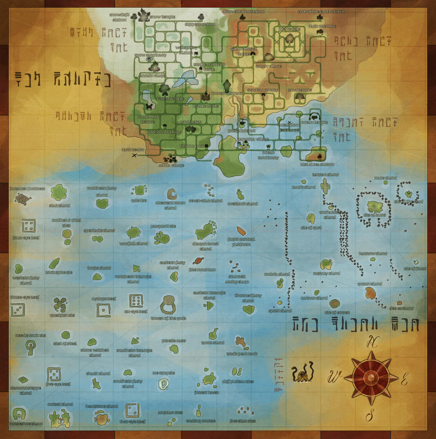 the great sea and new hyrule map by dargonite on deviantart - the great sea and new hyrule map by dargonite