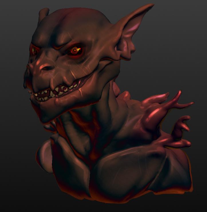 Weruuen Redesign 3D Bust - Colored by Dargonite