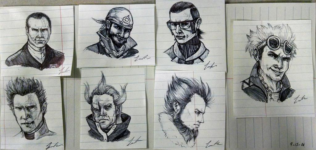 Pokemon: All Bosses Pen Doodles by Dargonite