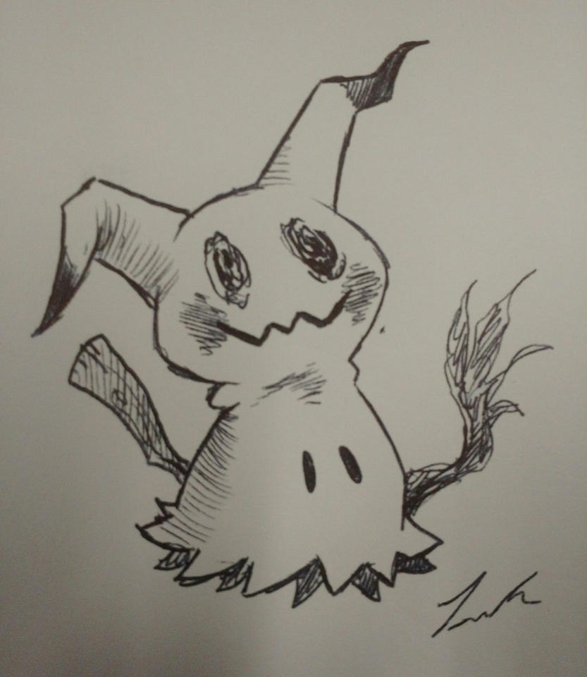 Mimikyu Pen Doodle by Dargonite