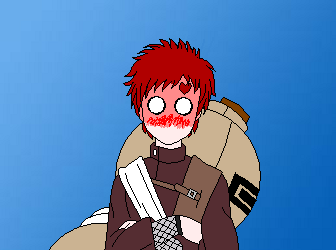 Heavily Blushing Gaara by NyanCatNatalie on DeviantArt Gaara Blushes Episode