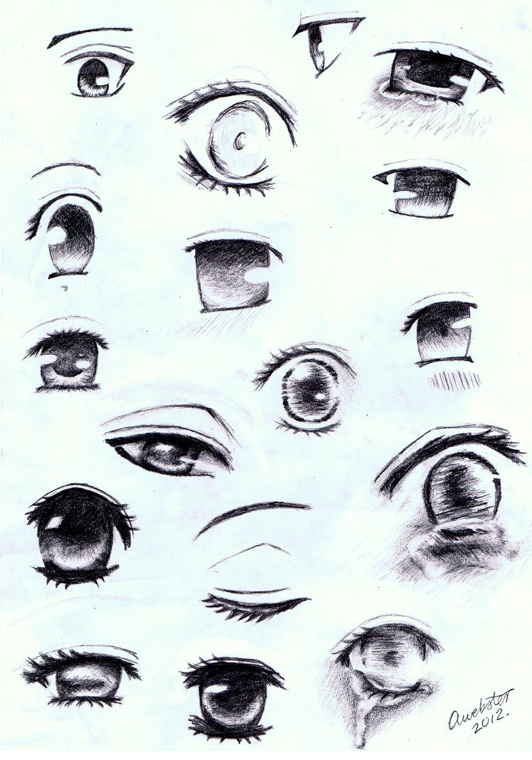 Manga Eye Sketches By AnnoKat On DeviantArt