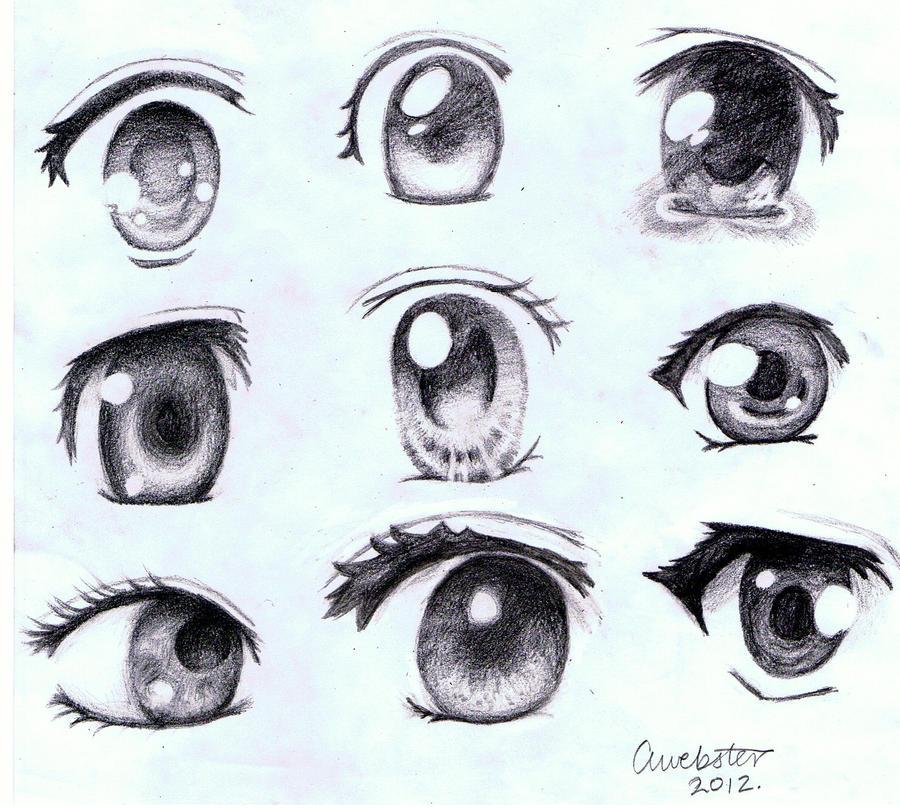 Anime Eyes by annoKat on DeviantArt