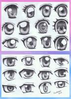 Anime Eye Styles by annoKat