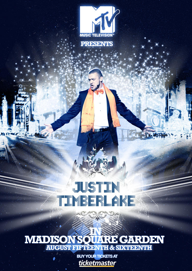 Design poster for concert - Justin Timberlake Concert By Soldout Design
