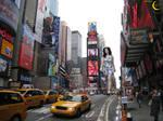 Katy Perry Walks Through Times Square