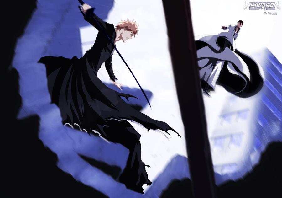 Ichigo VS Aizen by TempestDH