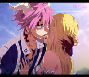 Natsu and Lucy by TempestDH