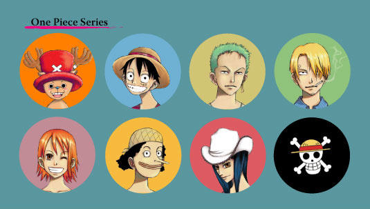One Piece Pin-Back Button Set by chieripie