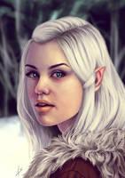 White Foxes by Unam-et-solum