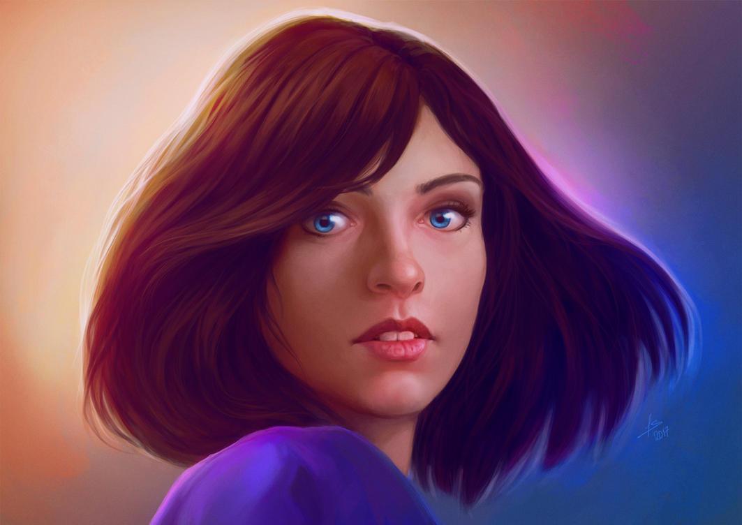 Elizabeth - Bioshock Infinite - Repaint by Unam-et-solum