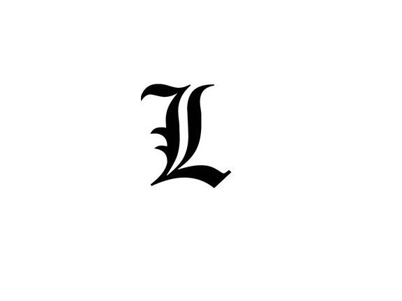 L In Old English Font By MyLostHeart13