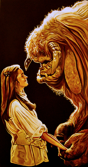 Sarah and Ludo - Labyrinth by strangelydrawn on DeviantArt Labyrinth 1986 Ludo