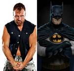 Batman and Jon Moxley by Corbett316