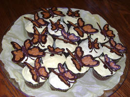 Butterflies on Cupcakes by kuroIchigopro