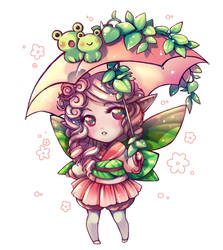 Gaia - Spring Peach Fairy by Cowslip