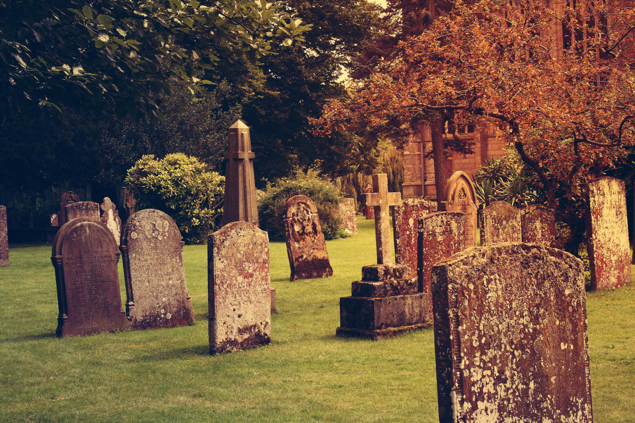 Autumn Cemetery 1 by chemical-revenge