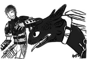 Hiccup and Toothless (How to Train Your Dragon 2) by HPE24