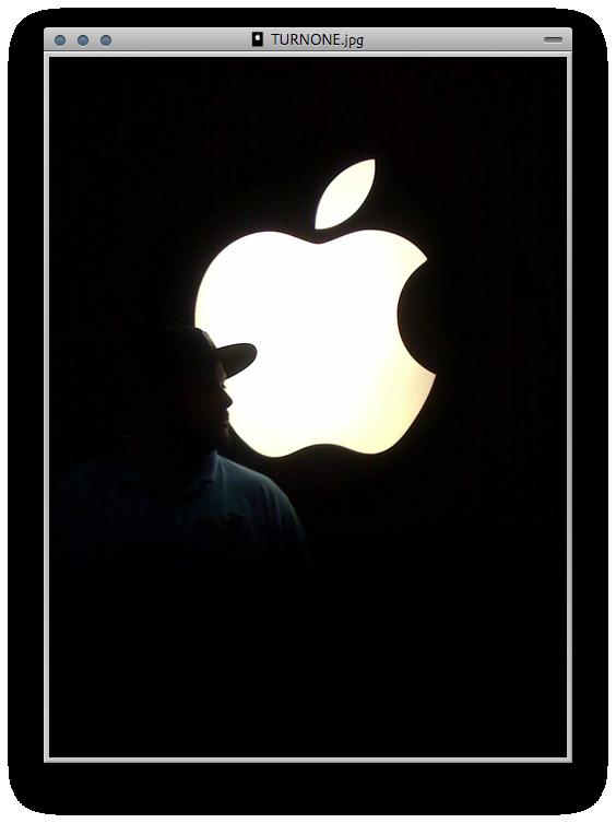 AppleTURNONEID by turnpaper