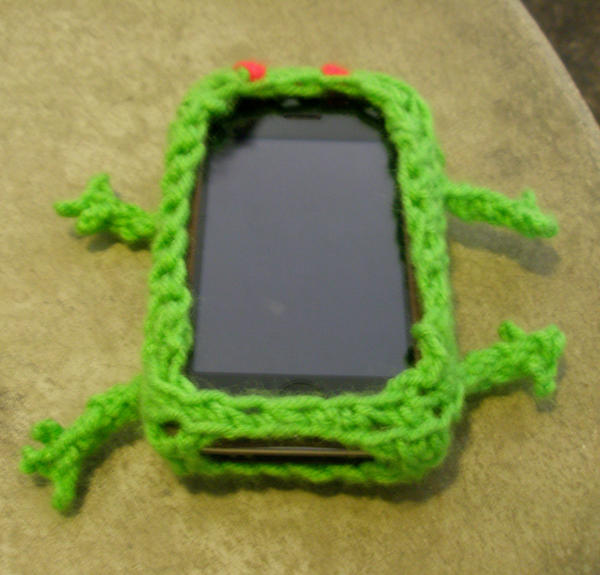 Crochet--iSlug iPhone Skin by Mira-Kajihiko