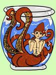 Octopus Merman by Jillianbeeler