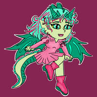 Chibi dragon girl
