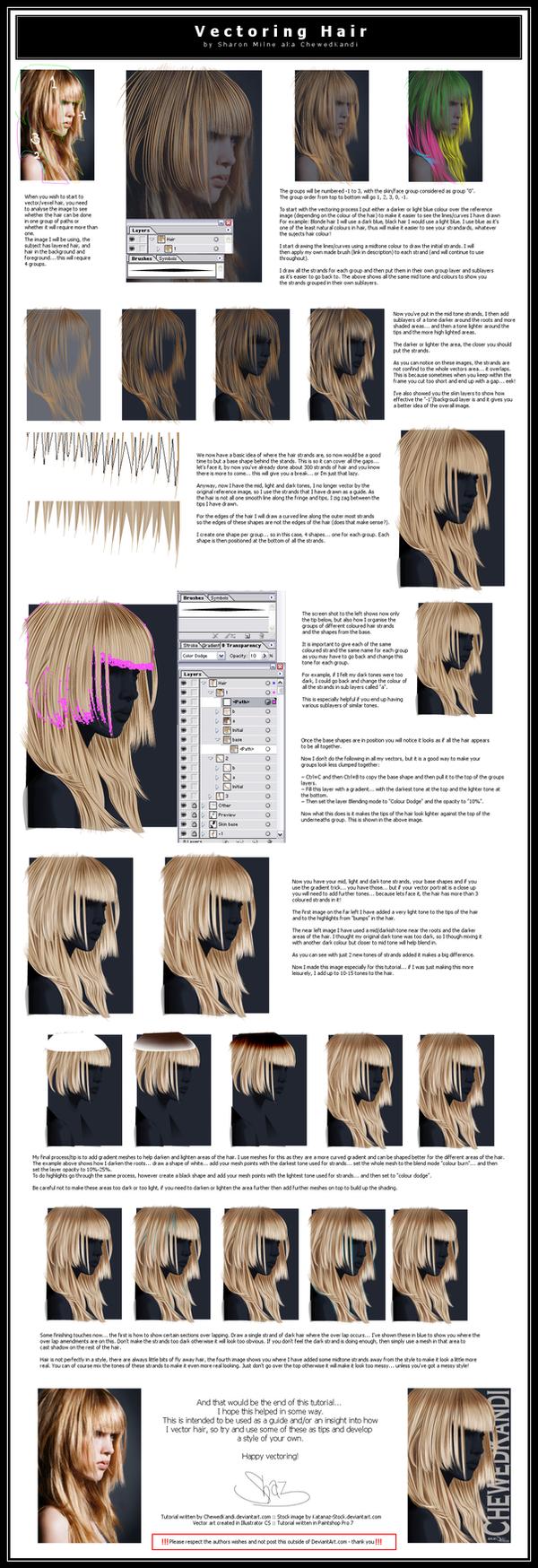 Vectoring Hair by ChewedKandi