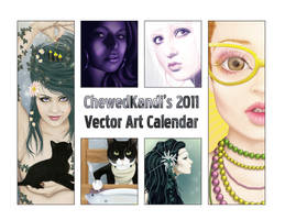 2011 Vector Art Calendar by ChewedKandi