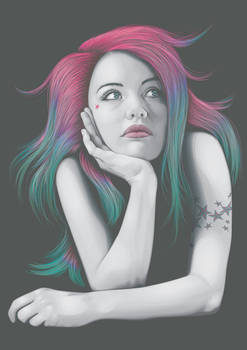 Four Colours In Her Hair
