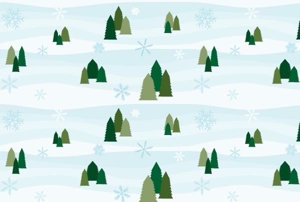 Simple Snowy Seamless Pattern Tutorial by ChewedKandi