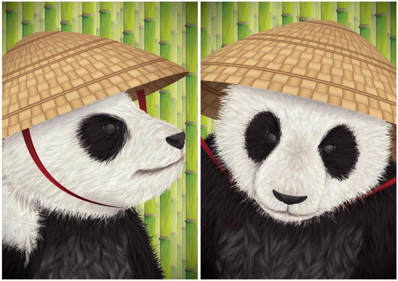 Kung Fu Panda Diptych by ChewedKandi