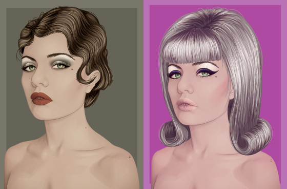 1920s + 60s Styles - Tutorial by ChewedKandi