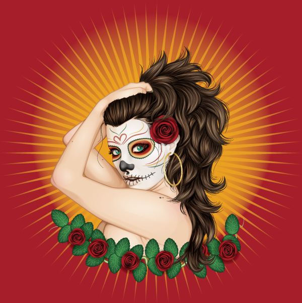 Adobe Tutorial: Day of the Dead by ChewedKandi